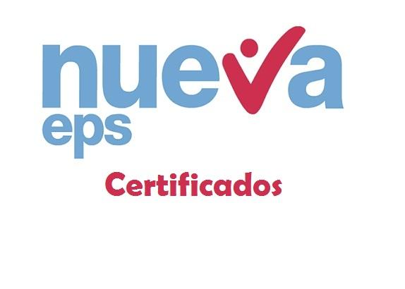 certificado nueva eps
